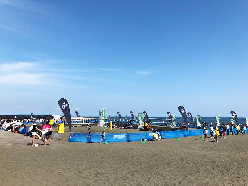 快晴のなかジャパンビーチバレーツアー開幕