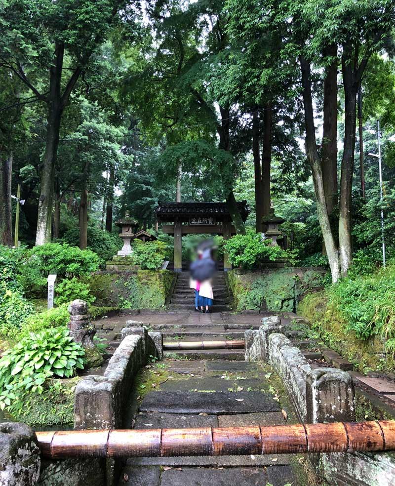 木々に囲まれた浄智寺の参道