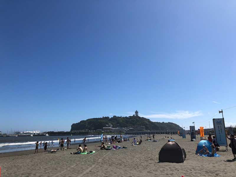 7月快晴の片瀬海岸東浜