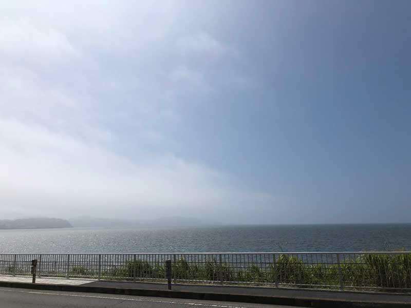 霧がだんだん晴れてきた