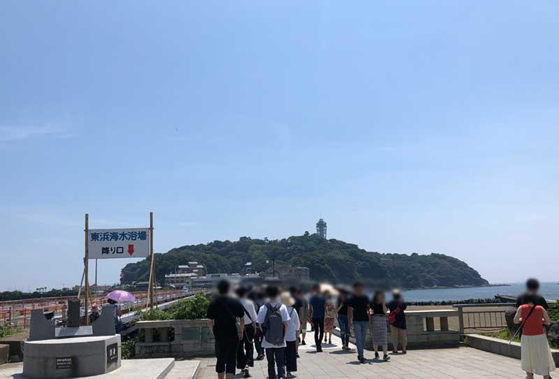 7月3連休の初日の江ノ島