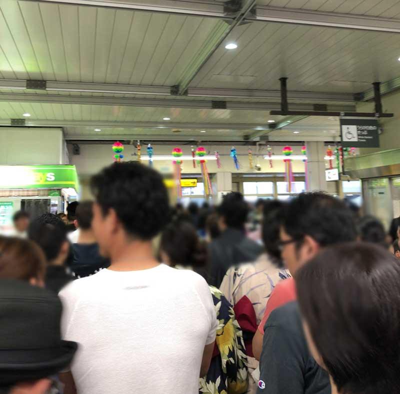 平塚駅西口改札からやっと出られた
