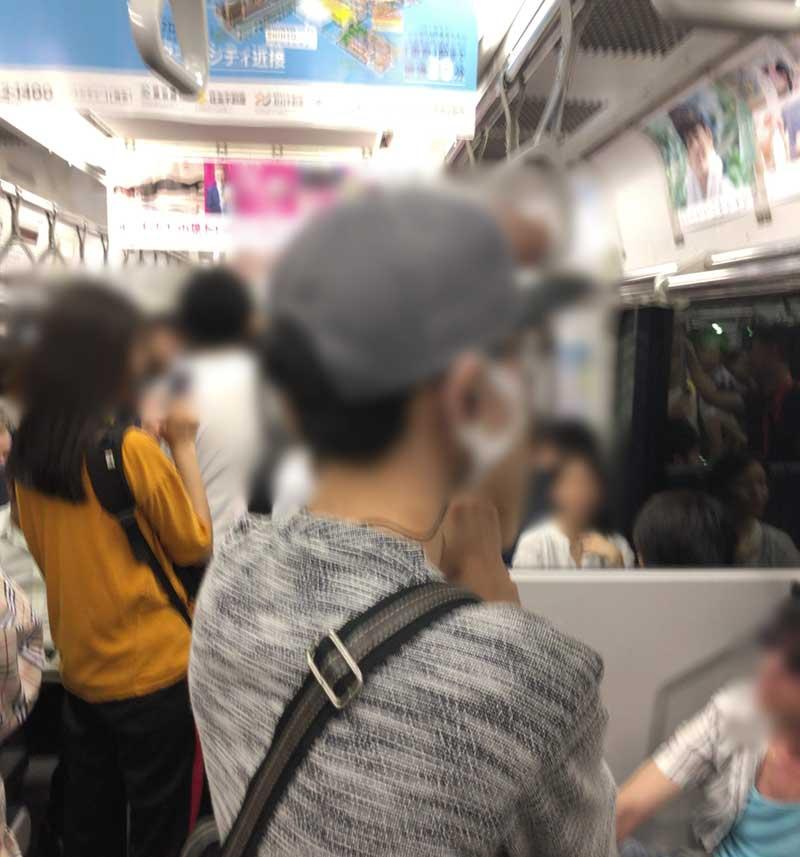 帰りの電車もそれほど混雑なし