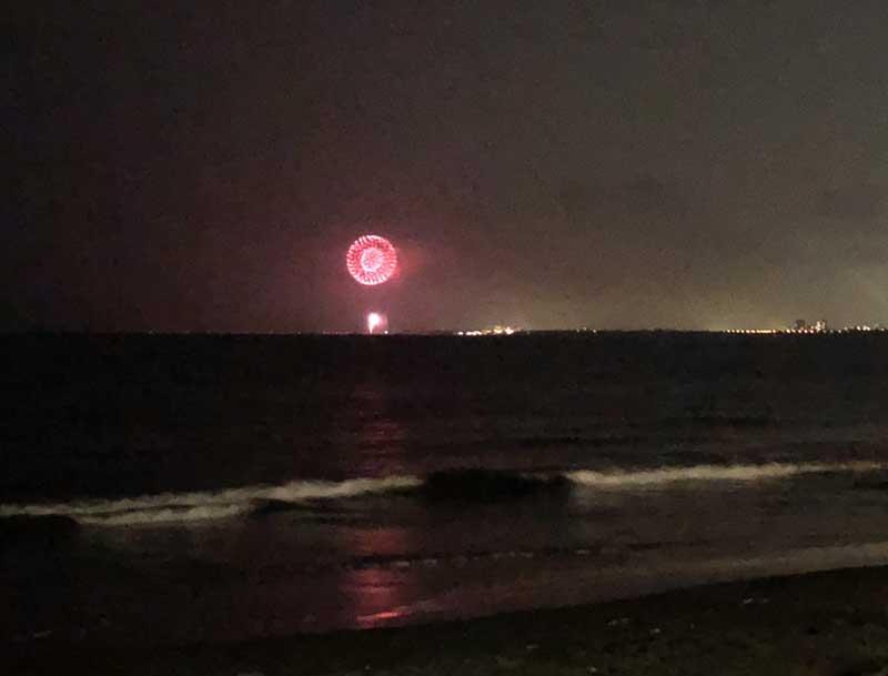 大きい花火はそれなりに見えます!