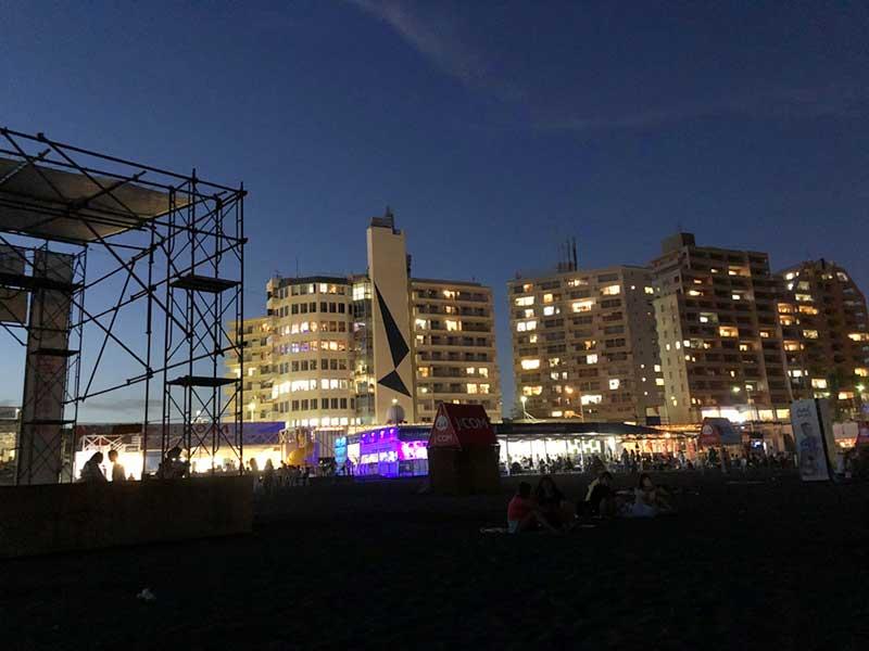 夜の東浜ビーチ