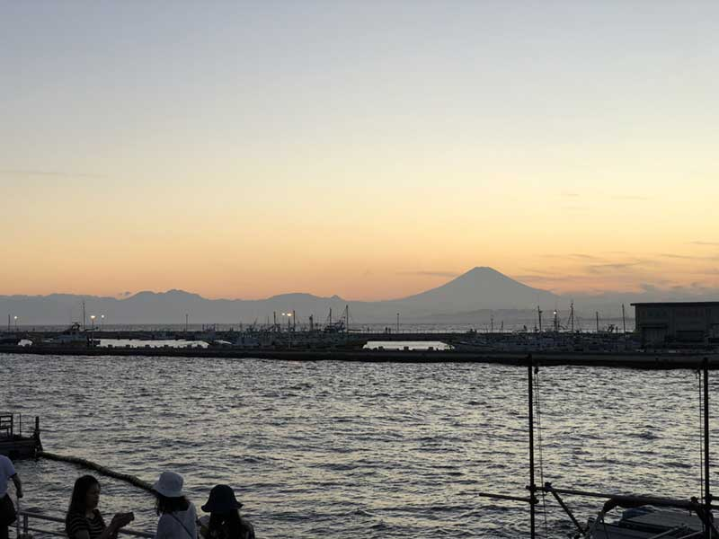 ここからでも富士山がくっきり見える
