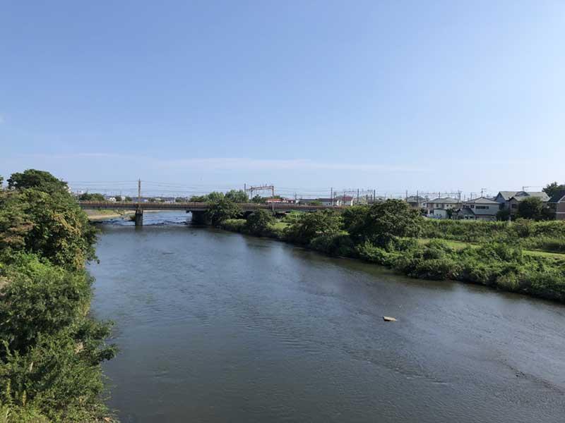 花水川を超えるので大磯町はすぐそこ