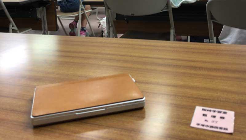 こちらの席で勉強開始