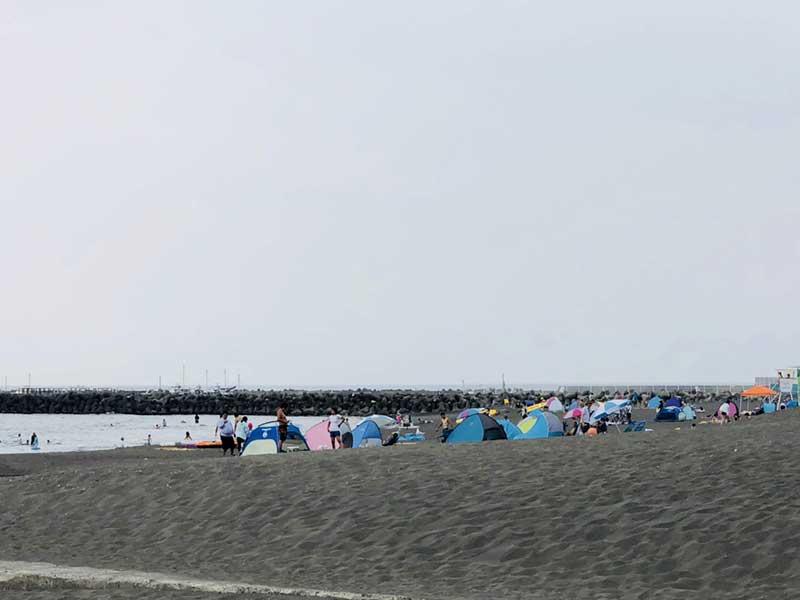 打ち上げ会場のサザンビーチちがさき海水浴場