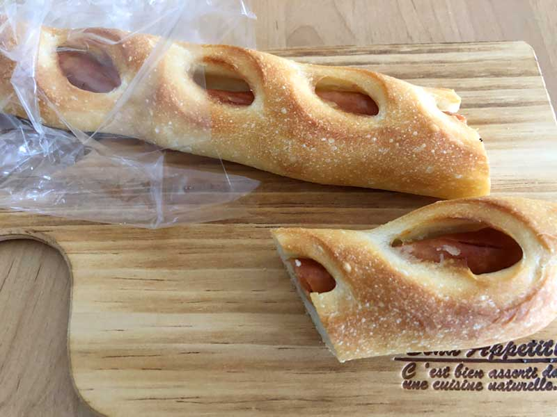 ながーいチョリソーフランスパン