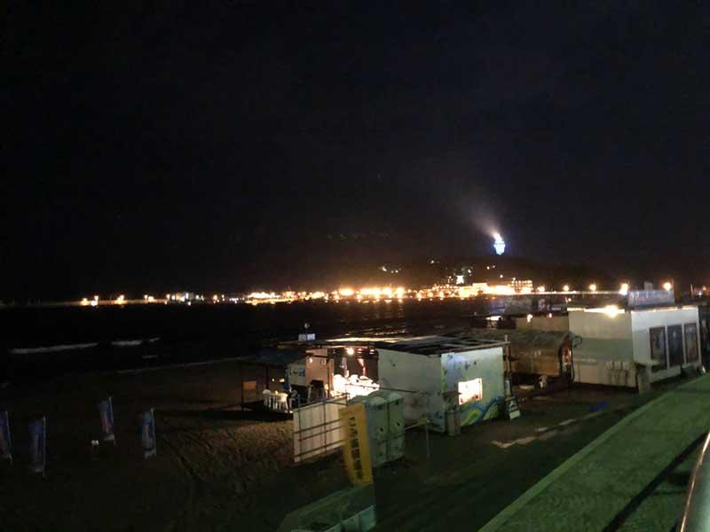 夜の片瀬東浜
