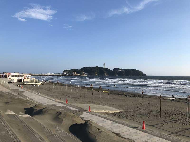 2018年8月31日の片瀬西浜海水浴場