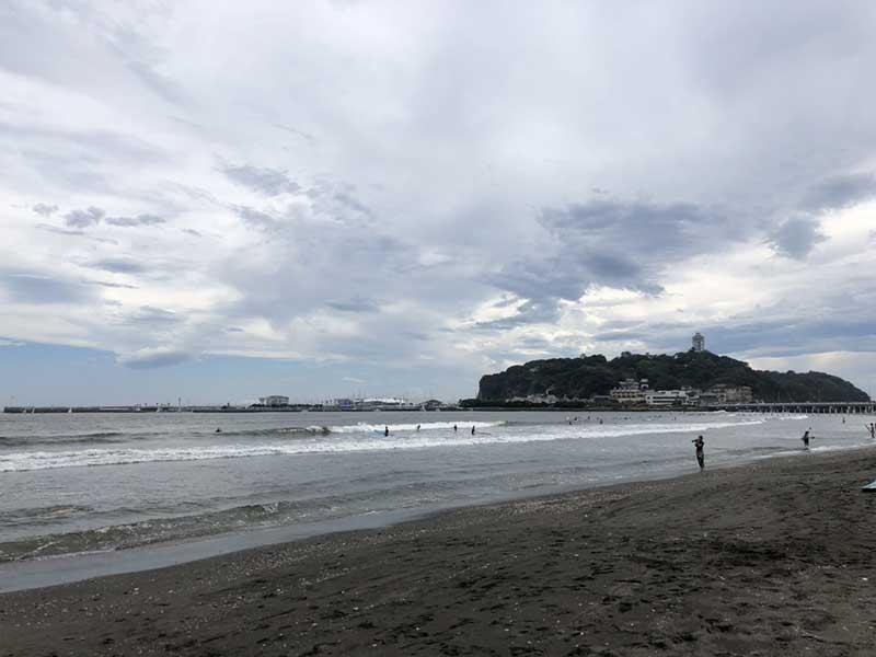 9月1日の片瀬東浜海水浴場