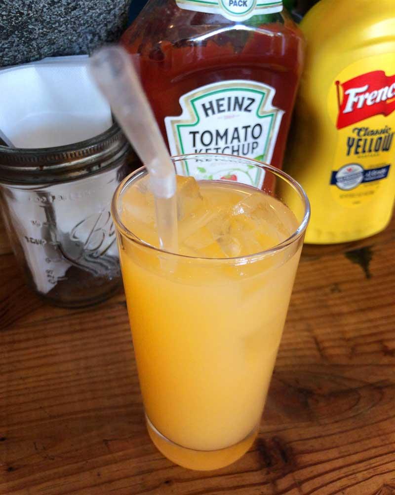 爽やかLサイズのグレープフルーツジュース