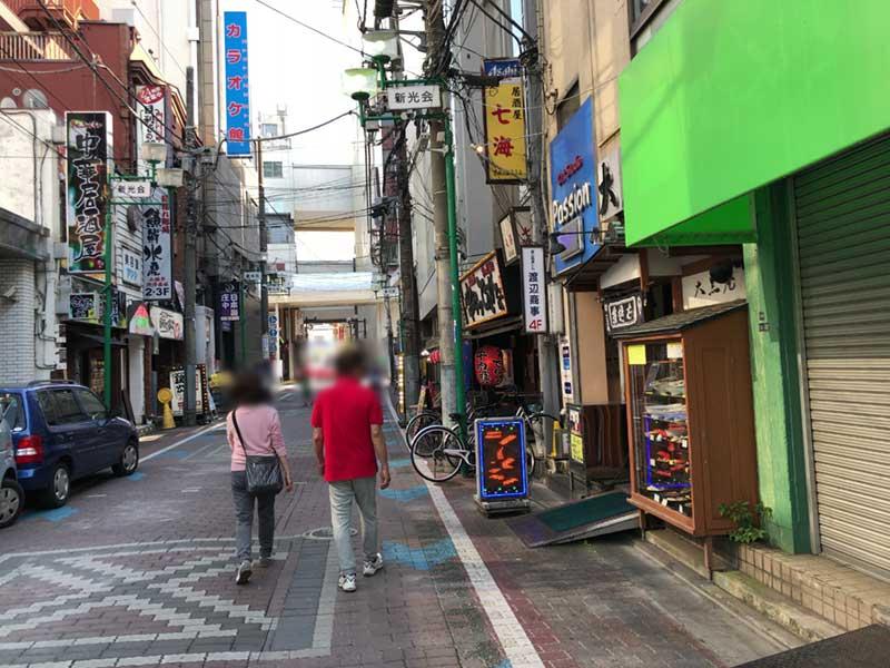 平塚駅北口のちょっとさびれた商店街