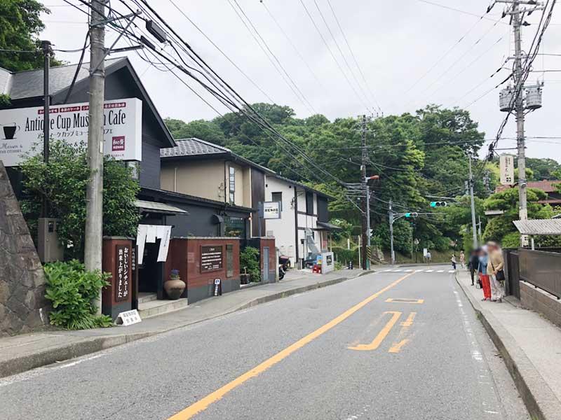 北鎌倉と鎌倉の中間なので散策の合間に立ち寄りやすい場所