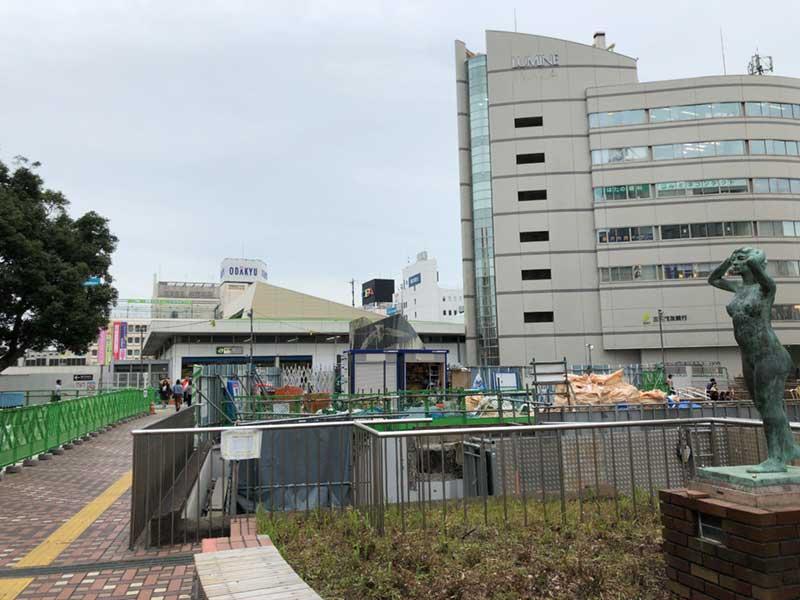 藤沢駅北口の広場