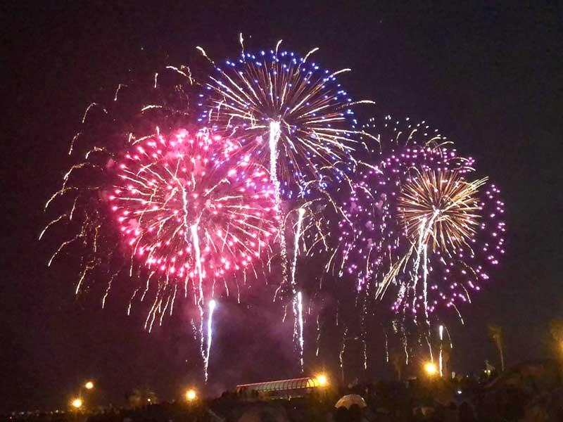 秋の江の島花火大会の序盤は最高でした