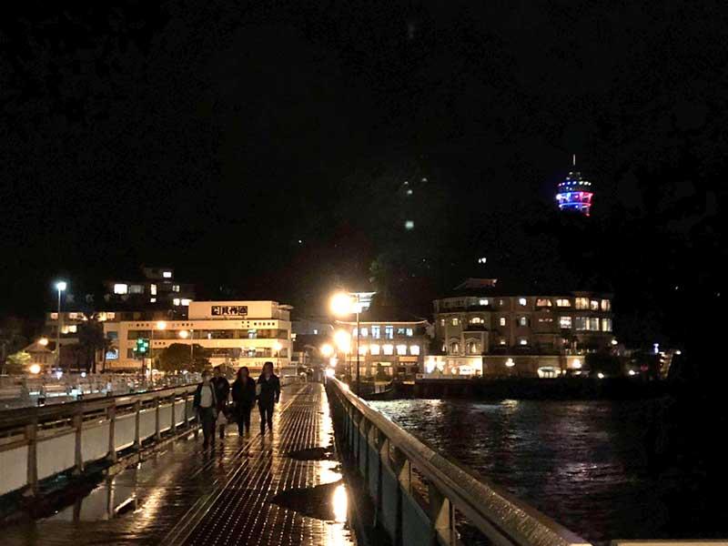 江ノ島の橋もほとんど人がいない