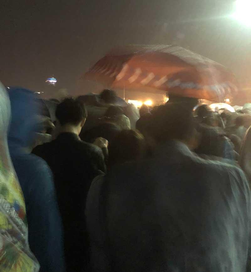 ゲリラ豪雨で退散だ!