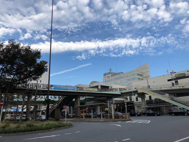 10月3日の藤沢駅南口の様子