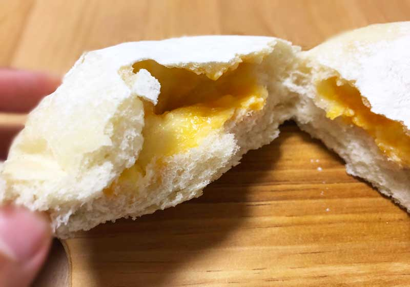 中にチーズがたっぷり