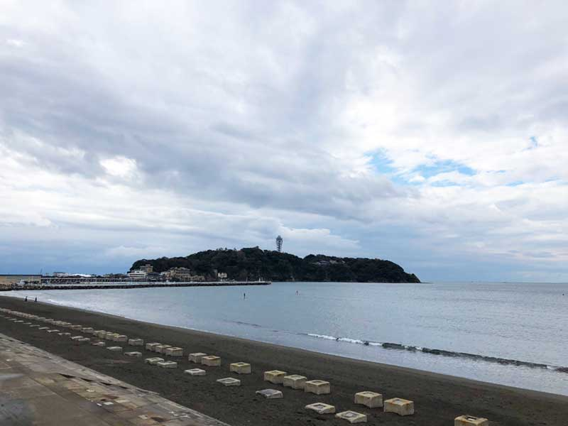 江の島花火大会の開催場所の西浜