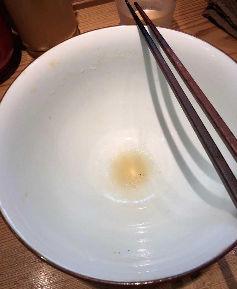 スープも残さず飲み干しました