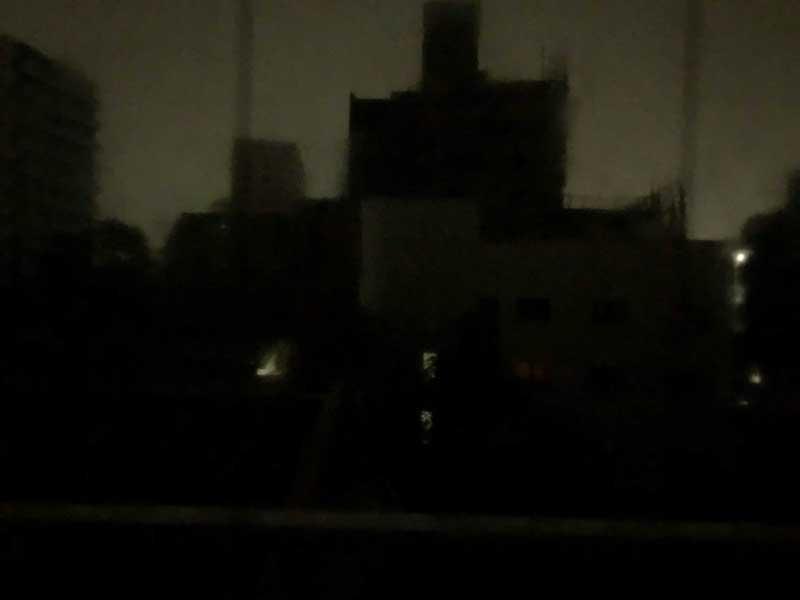 片瀬の町全体が真っ暗