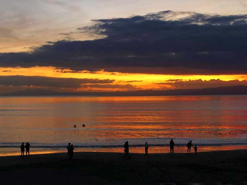 片瀬西浜の夕焼け