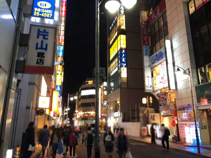 藤沢駅南口の繁華街
