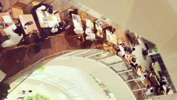 【テラスモール湘南】フードコートが受験生に人気の勉強場所!まるで図書館の自習室!ノマド仕事もできます。