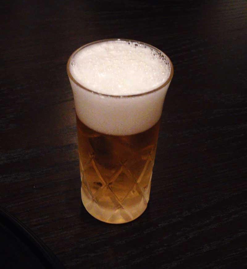 ビールきんきんに冷えてます
