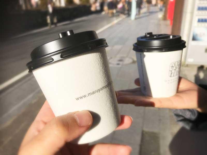 丸山珈琲でコーヒー豆を買うともらえるミニサイズのサービスコーヒー
