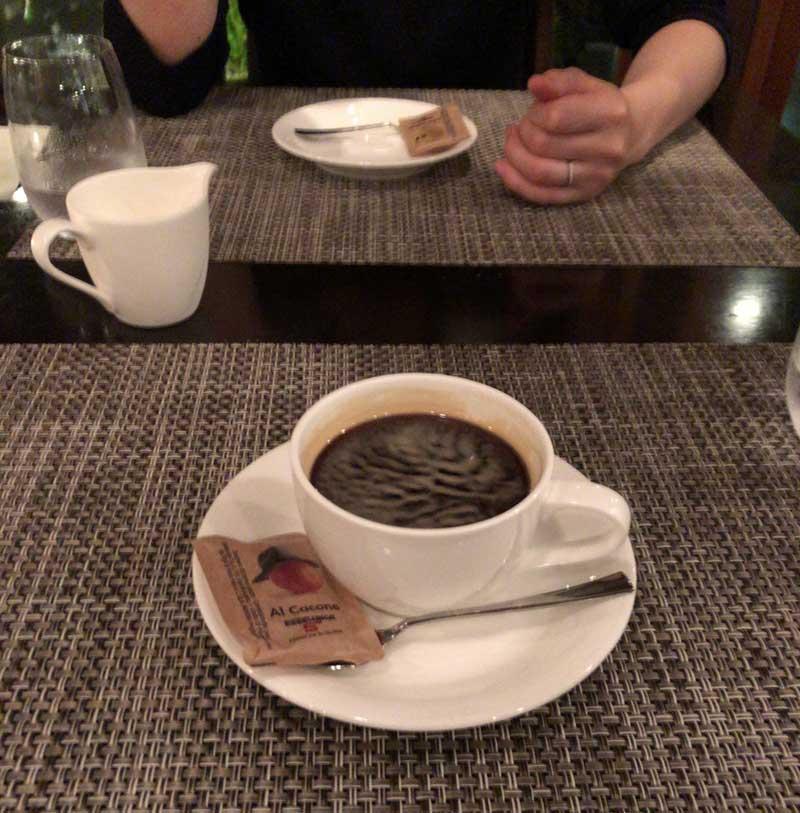 オーガニックのコーヒー