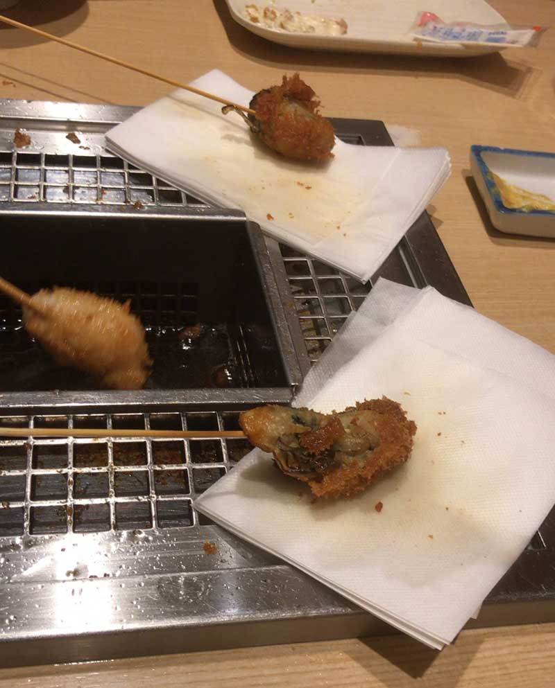 牡蠣フライはタルタルソースで!