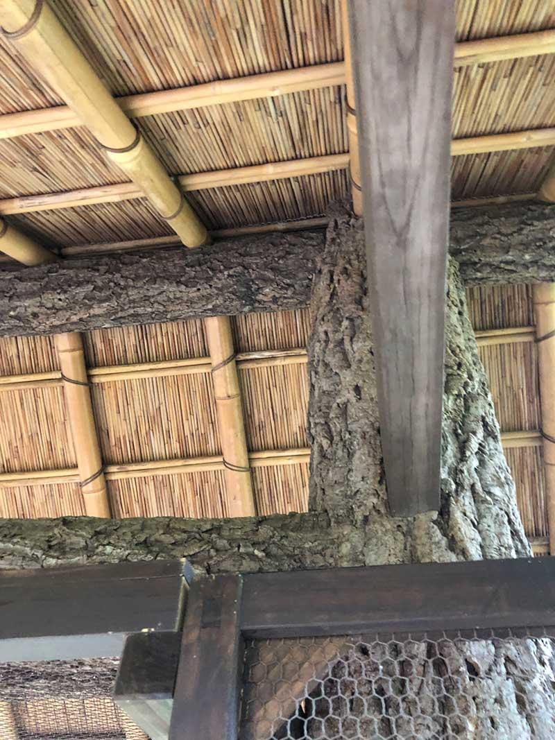 内部は雑木を組んである