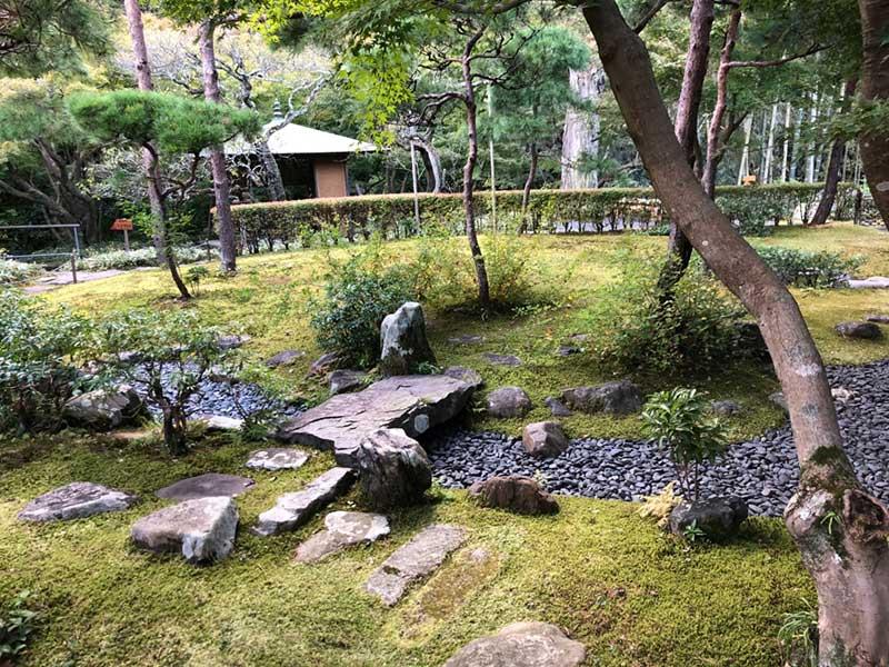 飛び石の散策路