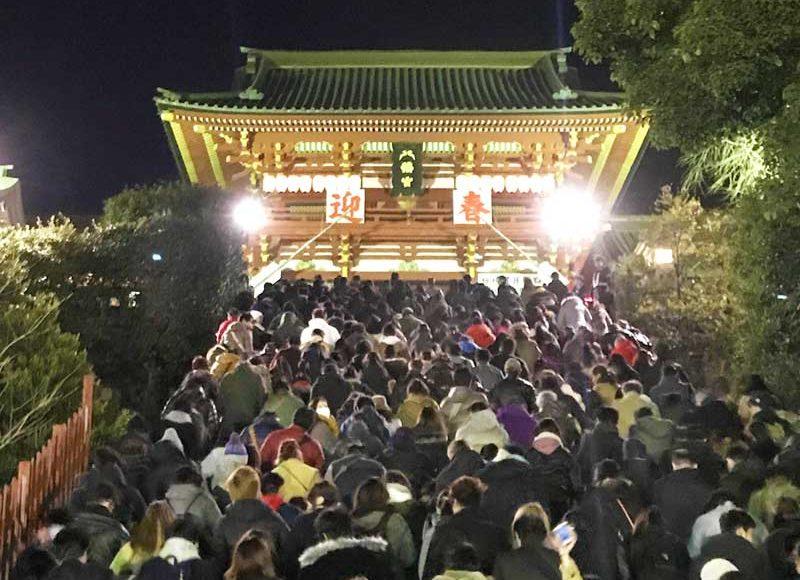 【鎌倉鶴岡八幡宮2019初詣】正月2日も混雑!長い行列で2時間待ち!おすすめは空いている夕方以降!