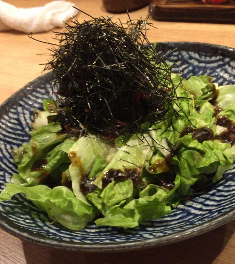 海苔たっぷりのサラダ