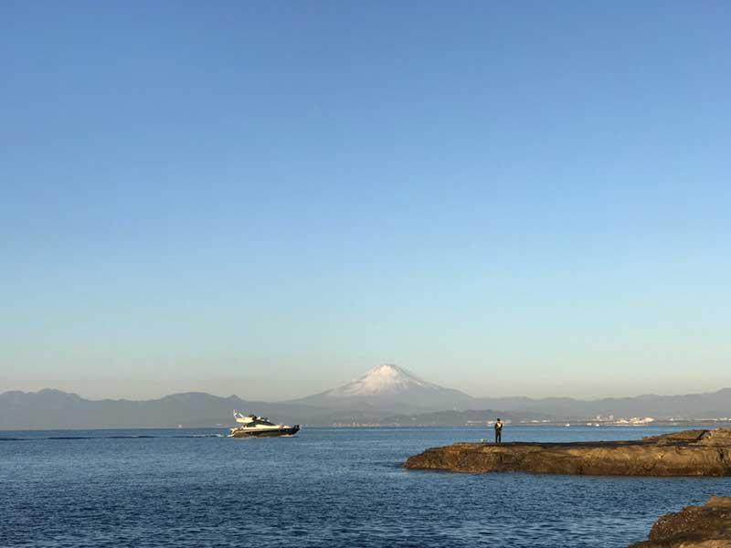 稚児ヶ淵から見た元旦の富士山
