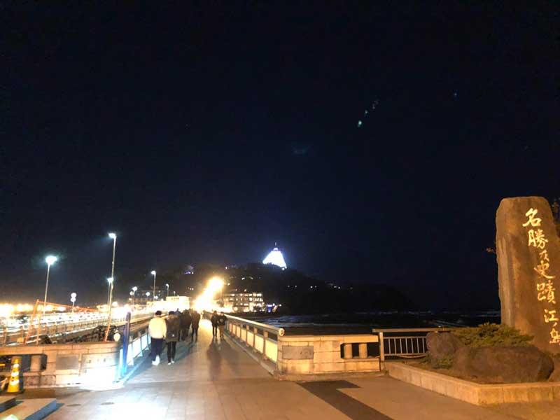 夜の江ノ島へマラソンがてたGO!
