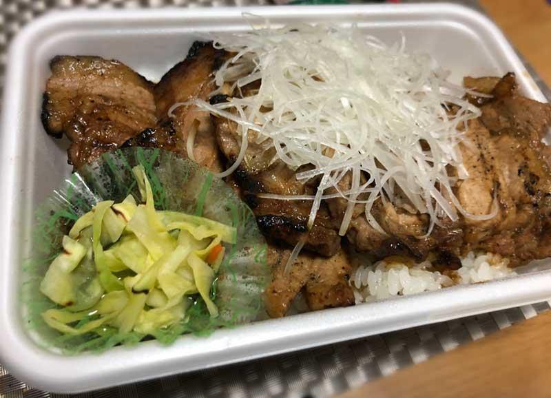 国産本ロース豚丼弁当の並サイズ