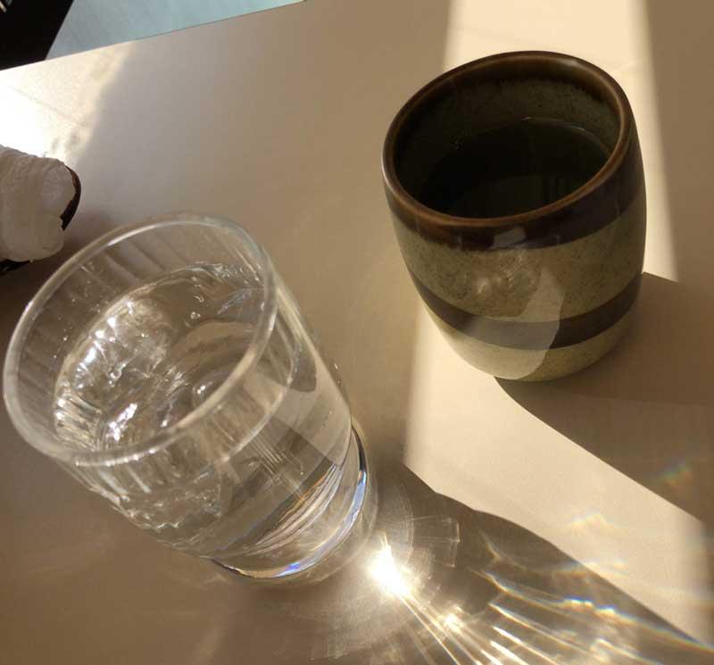 温かいお茶のサービス