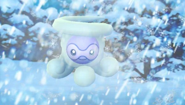 【江ノ島ポケモンGO】激レア?雪の日限定ポワルン出現!今年は雪が多くてチャンスです!