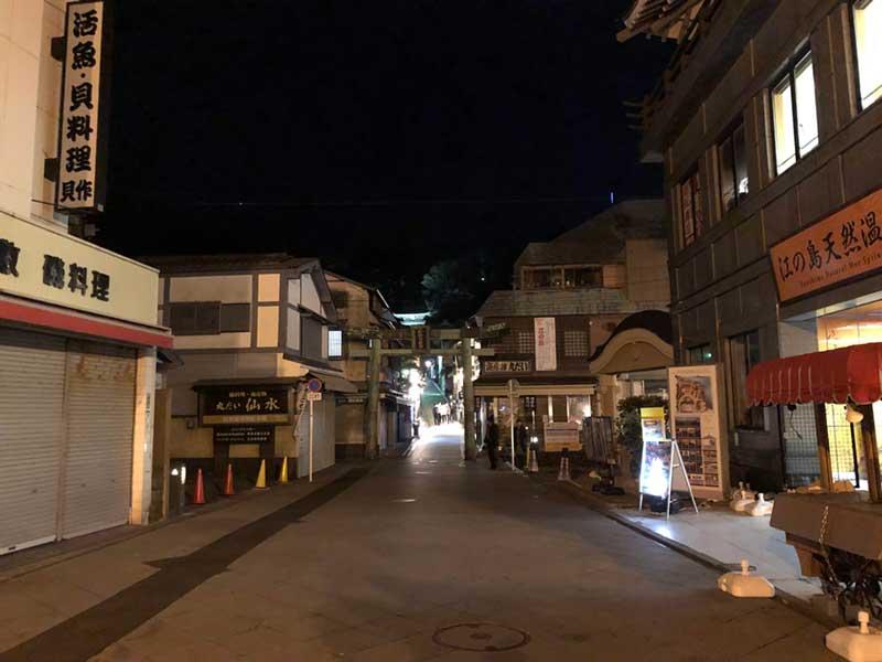 平日夜の江ノ島は誰もいない