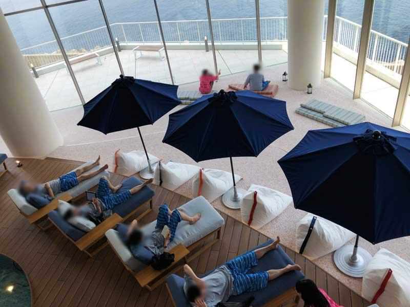 3階はオーシャンビューのビーチゾーン