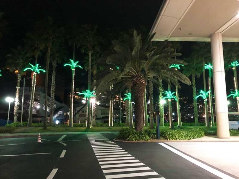 熱海ベイリゾート後楽園リゾートも綺麗にライトアップ