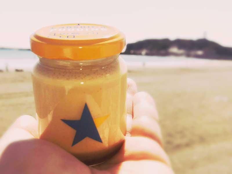 オレンジ色の江ノ島プリンレトロ味