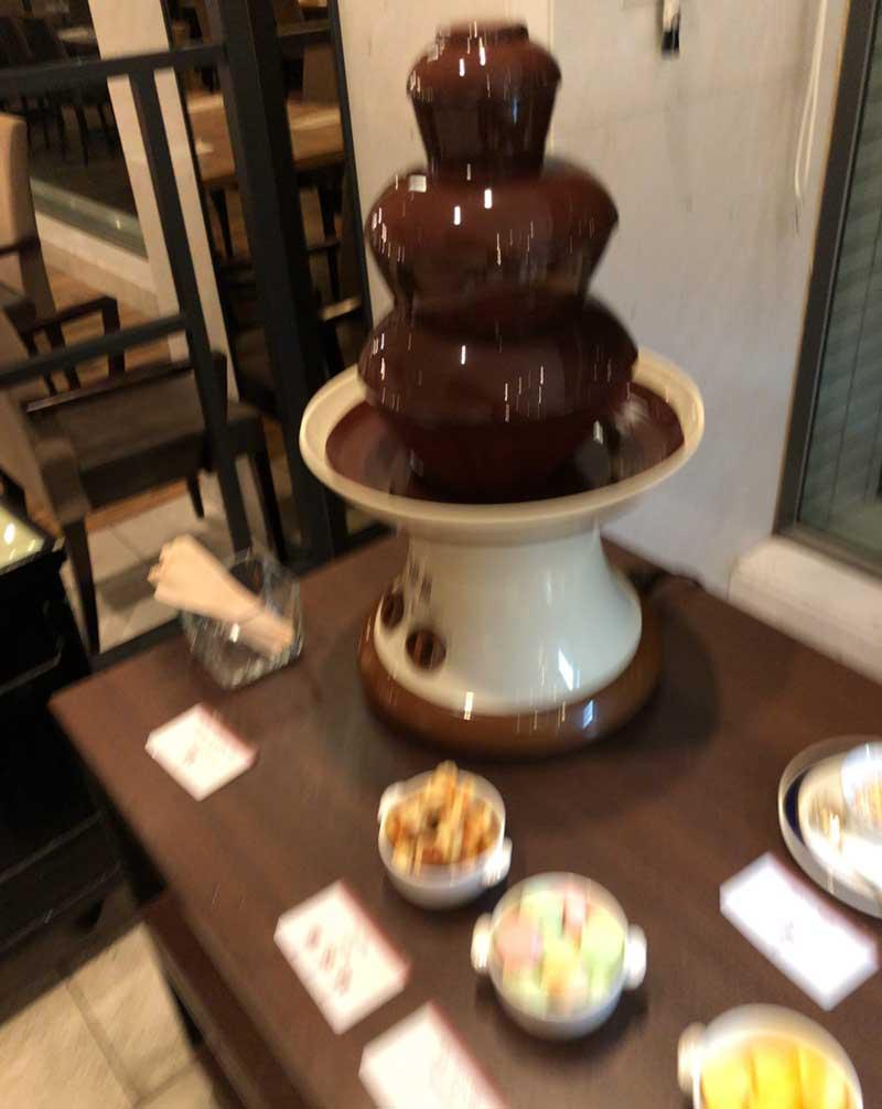 チョコレートファウンテンもある